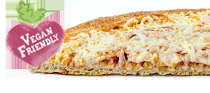 פיצה טבעונית עבה